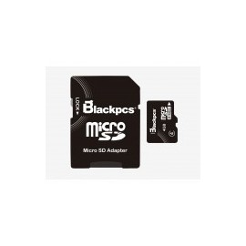 MEMORIA MICRO SDHC BLACKPCS 8GB CL 4 (MM4101-8)