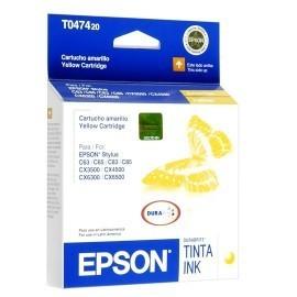 CARTUCHO EPSON T047 AMARILLO PARA CX4500/3500/6300/6500 8ML (T047420-