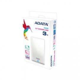DISCO DURO EXTERNO ADATA HV620 3TB 2.5 3.0 BLANCO (AHV620-3TU3-CWH)